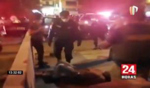 Los Olivos: vecinos capturaron y golpearon a sujeto acusado de robar
