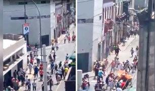 Mesa Redonda: violento enfrentamiento entre ambulantes y fiscalizadores