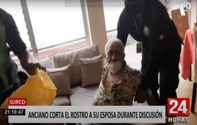 Surco: detienen a violento sujeto que agredió y desfiguró rostro de su conviviente
