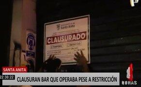 Santa Anita: clausuran por segunda vez bar tras desacatar medidas frente a pandemia