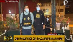Capturan a dos raqueteros dedicados a robar solo a mujeres en Chorrillos y Barranco
