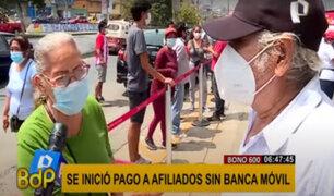 Bono 600: beneficiarios hacen colas en días que no le corresponden por falta de información