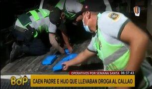 Operativos por Semana Santa: intervienen a padre e hijo llevando droga camuflada
