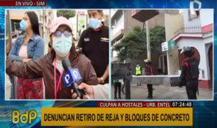 SJM: continúan conflictos entre vecinos y dueños de hostales tras retiro de reja metálica
