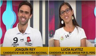 Voto Responsable 2021: Joaquín Rey de VN y Lucía Alvitez de JP explicaron sus propuestas