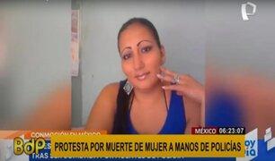México: decenas protestan por muerte de mujer durante intervención policial