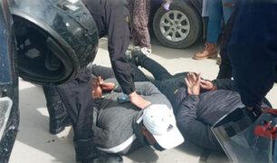 Delincuentes que arrebataron celular a joven estuvieron a punto de ser linchados en Huancayo