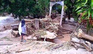 Junín: crecida de río arrasó con puente en San Ramón