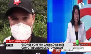 George Forsyth sobre debate: Nos hemos enfrentado con políticos que no han hecho nada en el país