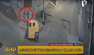 SJM: bandas rondan la avenida Miguel Iglesias para realizar asaltos al paso