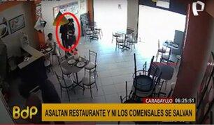 Carabayllo: asaltan restaurante a mano armada y ni los comensales se salvan