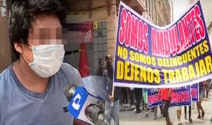 Ambulantes exigen que los dejen trabajar en el Cercado de Lima