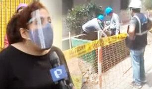 """Surco: vecinos enfrentados por remodelación en pasaje en la urbanización """"Los Próceres"""""""