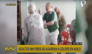 Italia: adultos mayores se agarran a golpes y se lanzan sillas en un asilo