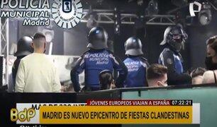 España: así interviene la Policía de Madrid las fiestas clandestinas COVID