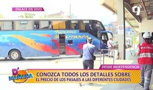 D'Mañana   Así están los precios de pasajes en el Gran Terminal Terrestre de Plaza Norte