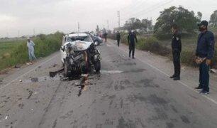 Adulto mayor y su hijo pierden la vida tras accidente vehicular en Lambayeque