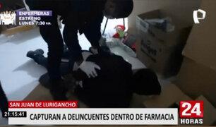 SJL: caen delincuentes cuando robaban una farmacia