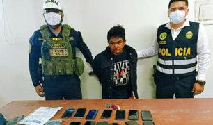 Callao: atrapan a delincuente que robó 13 celulares de alta gama en solo una hora