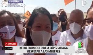 Elecciones 2021: Keiko Fujimori pide a López Aliaga respetar a las mujeres