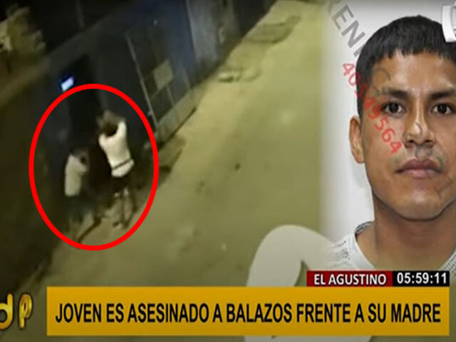 El Agustino: asesinan de 5 balazos a joven frente a su madre