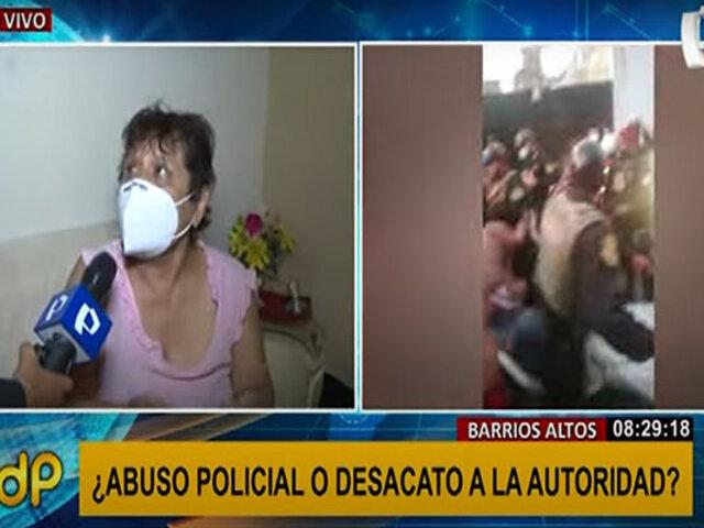 Agresión en Barrios Altos: ¿fue abuso policial o desacato a la autoridad?