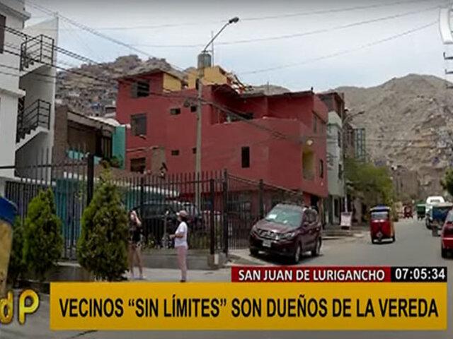 """SJL: vecinos se adueñan de veredas y pistas """"por seguridad"""""""