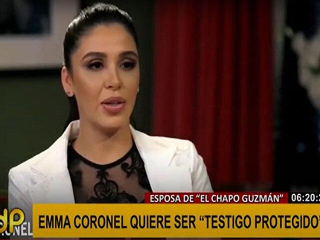 Esposa del Chapo Guzmán buscaría traicionarlo dando información privilegiada a la policía