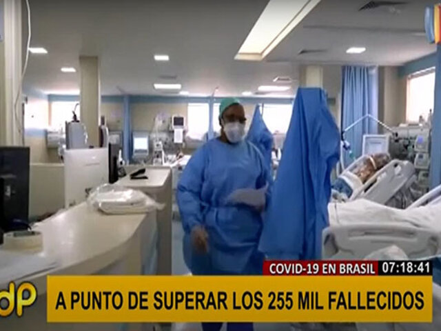 Brasil superó los 250 mil fallecidos por COVID-19 a un año de la pandemia