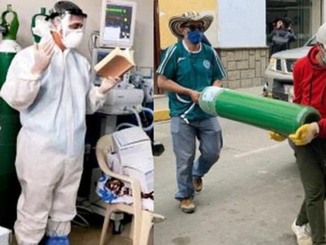 Cajamarca: sacerdote reparte balones de oxígeno casa por casa en zonas rurales