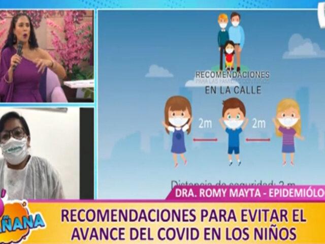 D'mañana: recomendaciones para evitar el avance del covid-19 en los niños