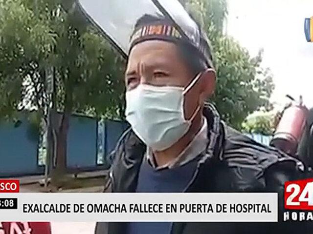 Cusco: exalcalde de Omacha fallece en la puerta del hospital esperando atención
