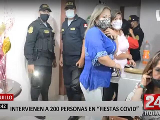 Trujillo: 200 personas son intervenidas por participar en fiestas COVID-19