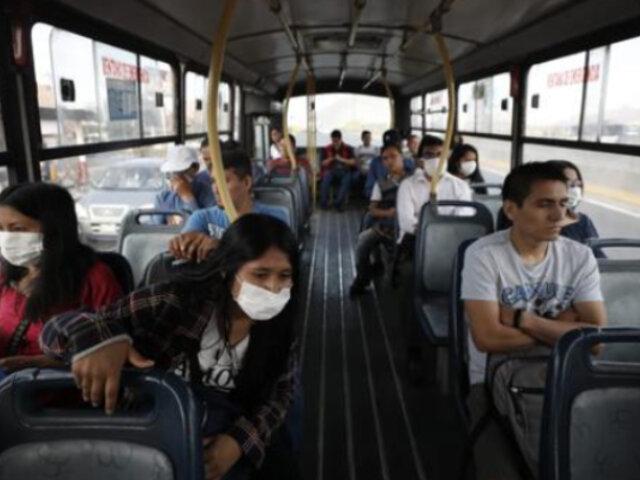 Transporte público de Lima y Callao podrá operar con el 50% de pasajeros sentados