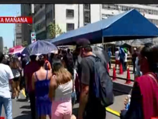 Reniec: personas vulnerables también hicieron cola para ser atendidos tras reapertura