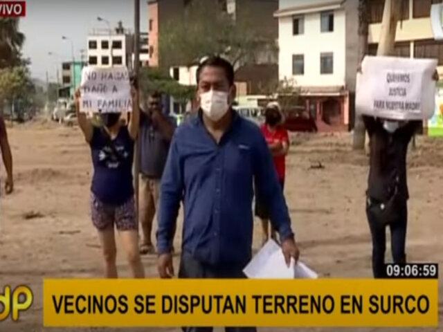 Surco: vecinos se encuentran enfrentados por disputa de terreno