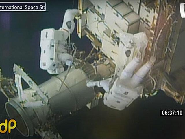 NASA: dos astronautas realizan caminata en la Estación Espacial Internacional