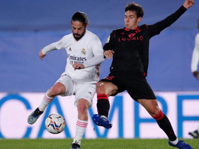 Real Madrid empató 1-1 ante el Real Sociedad por LaLiga Santander