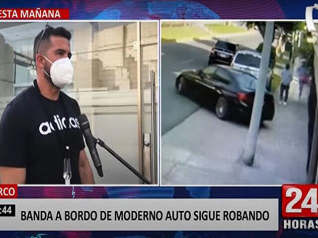 Surco: habla dueño de vehículo de alta gama que delincuentes usan para robar