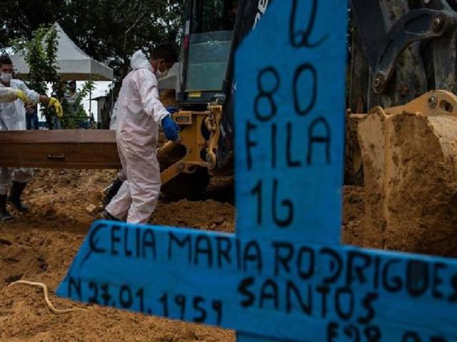 Brasil registra un nuevo récord diario con más de 1.600 muertes por Covid-19