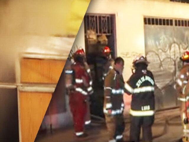 La Victoria: mujer salva de morir en incendio de edificio