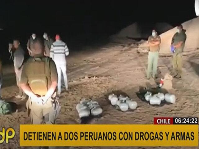 Chile: detienen a dos peruanos intentando ingresar con droga y armas