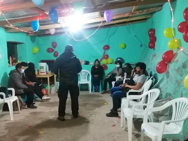 Arequipa: intervienen fiesta COVID en pleno toque de queda