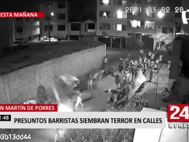 SMP: presuntos barristas siembran terror en calles