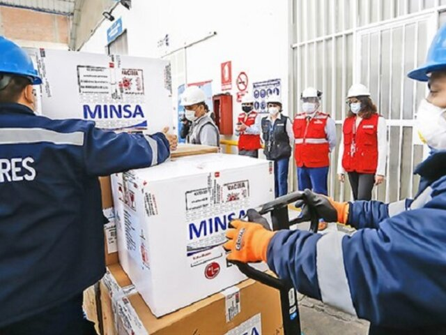 Nuevo lote de 50 mil vacunas Pfizer llegarán el 11 de marzo, asegura ministro Ugarte
