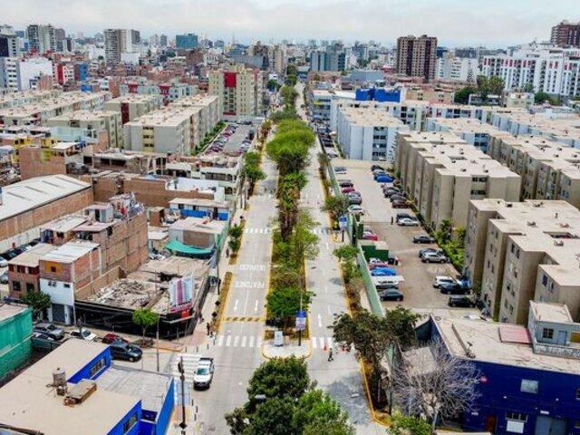 MML entregó remodelada avenida Domingo Orué en Surquillo