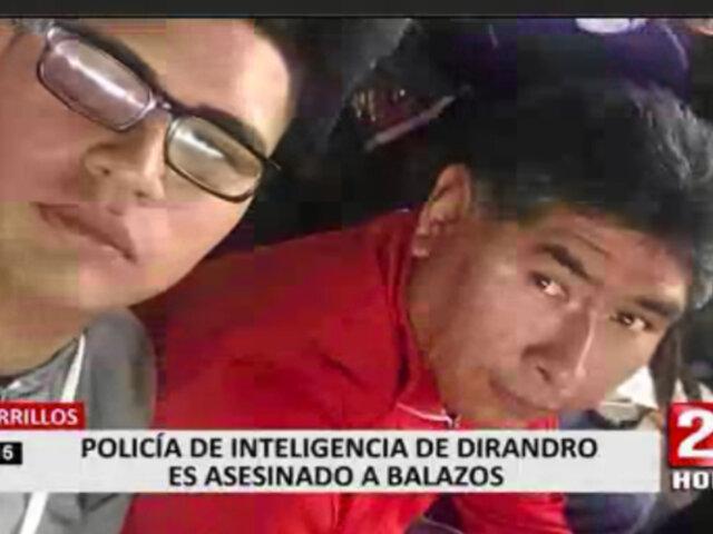 Policía asesinado en Chorrillos fue testigo de varios casos relacionados al narcotráfico