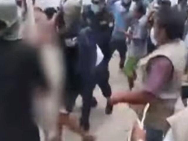 Piura: 50 comuneros fueron detenidos en batalla campal por toma de local comunal