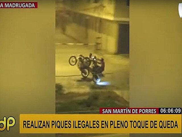 SMP: motociclistas usan la avenida Santa Rosa para hacer piques ilegales