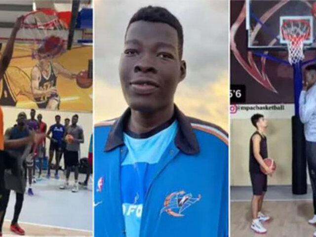 Gigante nigeriano de 2.36 metros la rompe en baloncesto
